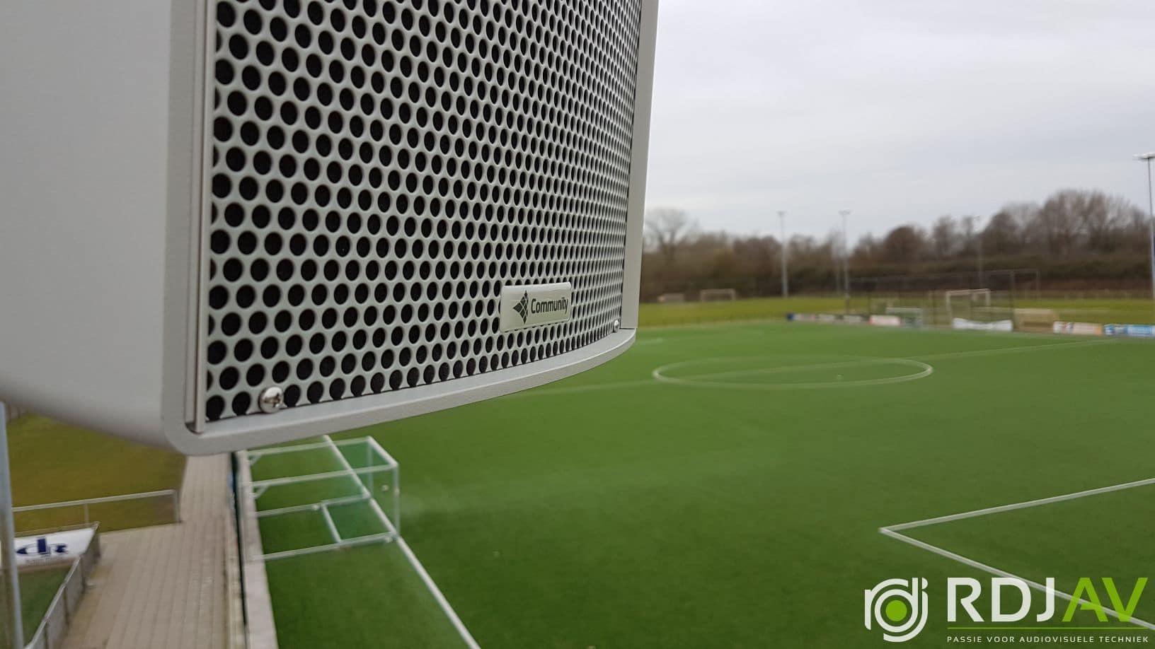 Geluid voetbalveld