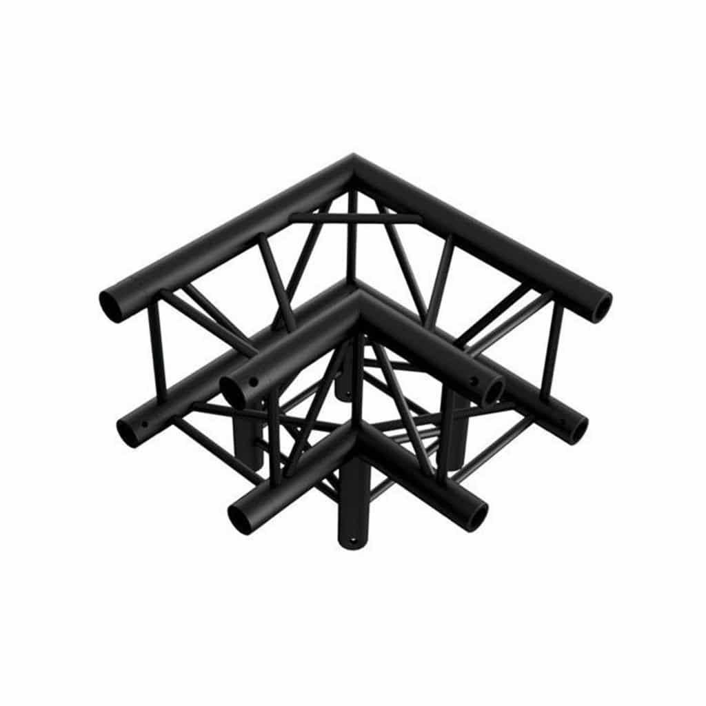 FD34 eurotruss hoek 3-weg 90 graden + down zwart